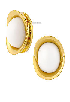 Robert Lee Morris White Oval Stud Earring