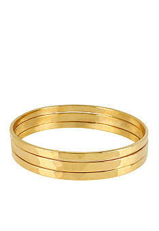 Robert Lee Morris Gold Bangle Bracelet Set