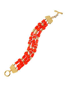 Robert Lee Morris Coral Bead Toggle Bracelet