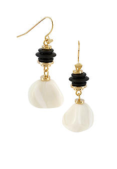 Robert Lee Morris Ivory Bead Drop Earring