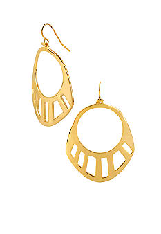 Robert Lee Morris Geometric Cut-Out Drop Earring