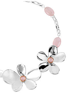 Robert Lee Morris Flower Frontal Necklace