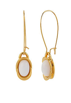 Robert Lee Morris White Oval Drop Earring