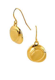 Robert Lee Morris Gold Sculptural Round Drop Earring