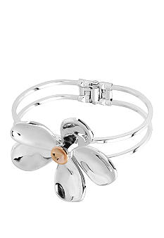 Robert Lee Morris Flower Hinged Bangle Bracelet