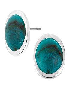 Robert Lee Morris Turquoise Oval Stud Earring