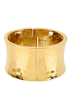 Robert Lee Morris Hammered Sculptural Hinged Bangle Bracelet
