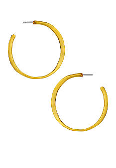 Robert Lee Morris Hammered Sculptural Hoop Earring