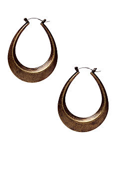 Nine West Vintage America Collection Antique Gold Oval Earring