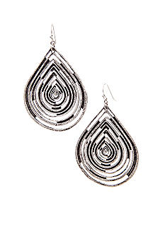 Nine West Vintage America Collection Antique Silver Tear Drop Earring