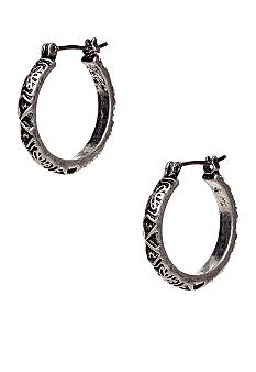 Nine West Vintage America Collection Antique Silver Hoop Earring