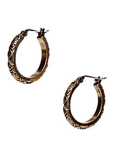 Nine West Vintage America Collection Antique Gold Hoop Earring