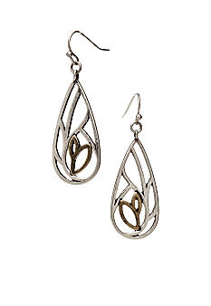 Nine West Vintage America Collection Openwork Tear Drop Earring