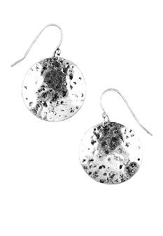 Nine West Vintage America Collection Earring - Antique Silver Small Drop