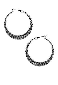 Nine West Vintage America Collection Jewelry - Medium Antique Silver Hoops