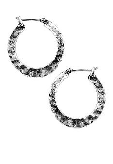 Nine West Vintage America Collection Small Hammered Hoops