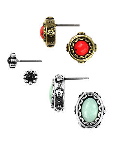 Nine West Vintage America Collection Trio Earring Set