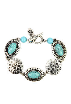 Nine West Vintage America Collection Turquoise and Silver Bracelet