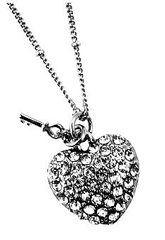 Nine West Vintage America Collection Heart Necklace