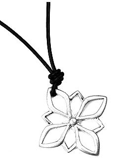 Nine West Vintage America Collection Oxidized Silver Open Work Flower Pendant