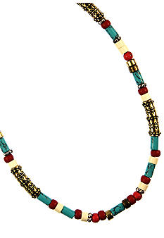 Nine West Vintage America Collection Beaded Collar Necklace