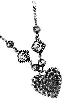 Nine West Vintage America Collection Heart Frontal Necklace