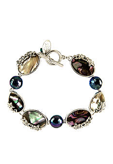 Nine West Vintage America Collection Genuine Abalone Bracelet