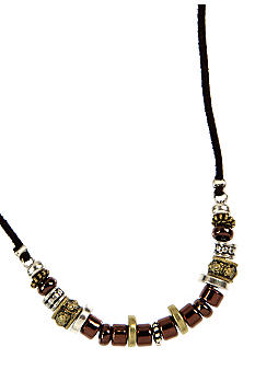 Nine West Vintage America Collection Tri-Color Beaded Necklace