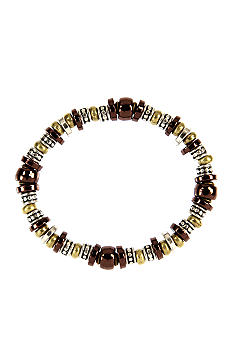 Nine West Vintage America Collection Tri-Color Bead Stretch Bracelet