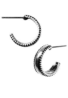 Nine West Vintage America Collection Bali-Inspired Silver Hoop Earrings