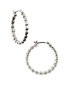 Nine West Vintage America Collection Beaded Hoop Earrings