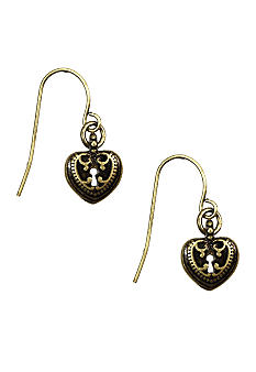 Nine West Vintage America Collection Heart Drop Earrings