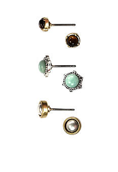 Nine West Vintage America Collection Pierced Stud Earring Trio