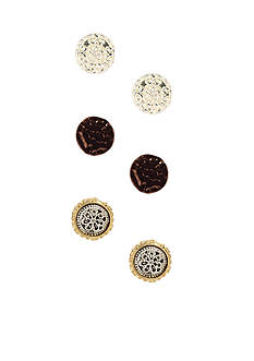 Nine West Vintage America Collection Stud Trio Earring Set