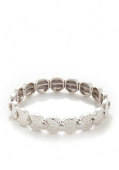 Nine West Vintage America Collection Silver-Tone Stretch Bracelet