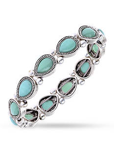 Nine West Vintage America Collection Stone Stretch Bracelet