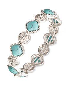 Nine West Vintage America Collection Silver-Tone Color Binge Stretch Bracelet