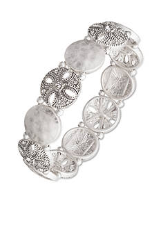 Nine West Vintage America Collection Silver-Tone San Tropez Stretch Bracelet