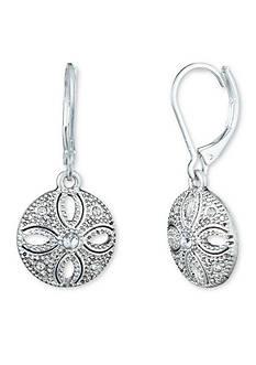 Nine West Vintage America Collection Silver-Tone San Tropez Drop Earrings
