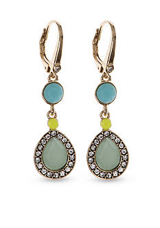 Nine West Vintage America Collection Gold-Tone Summer Glow Double Drop Earrings