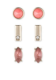 Nine West Vintage America Collection Gold-Tone Summer Glow Trio Stud Earring Set