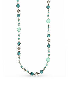 Nine West Vintage America Collection Silver-Tone Tranquil Trails Turquoise Strand Necklace