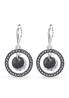 Nine West Vintage America Collection Silver-Tone North Shore Orbital Drop Earrings