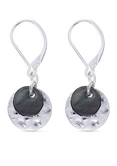 Nine West Vintage America Collection Silver-Tone North Shore Disc Drop Earrings