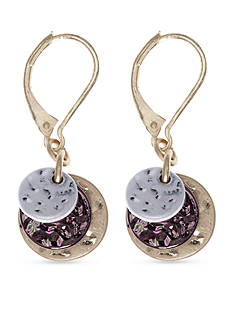 Nine West Vintage America Collection Tri-Tone North Shore Drop Earrings