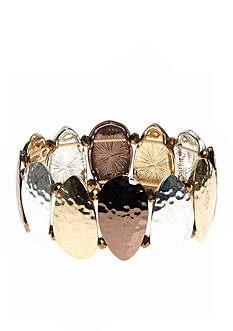 Nine West Vintage America Collection Tri-tone Stretch Bracelet
