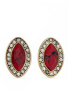 Nine West Vintage America Collection Gold-Tone Coral Stud Earrings