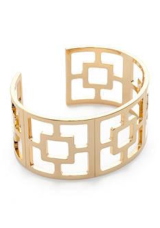 Trina Turk Gold-Tone Cut Out Cuff Bracelet