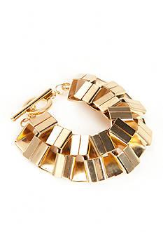 Trina Turk Square Flex Gold-Tone Bracelet