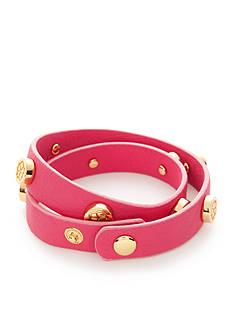 Trina Turk Stud Leather Double Wrap Bracelet
